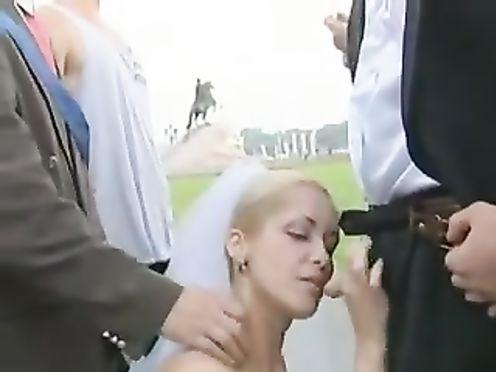 Пьяная невеста отсосала у всех гостей на свадьбе